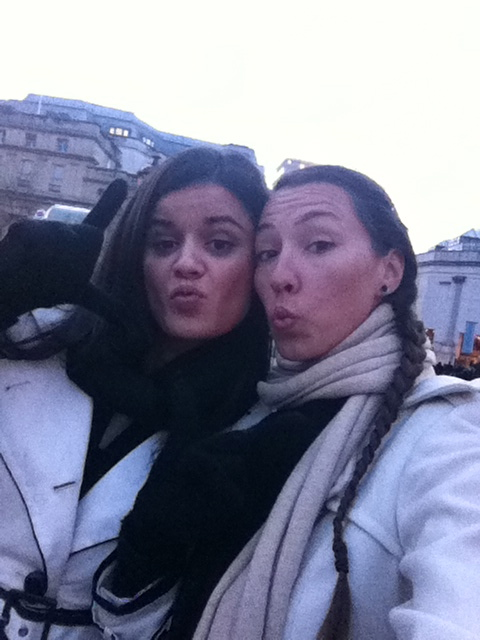 Mel and I playing in London