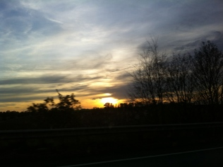 Sunset over the country-side