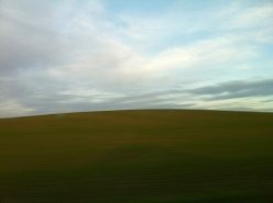 Rolling green countryside