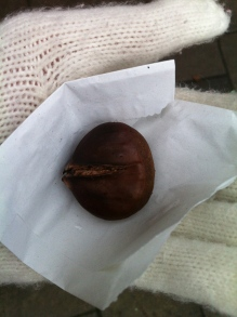 My first roasted chesnut