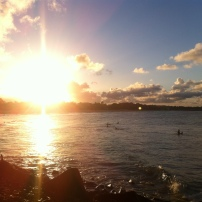 First sunset for 2015 at Noosa Main Beach