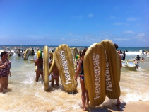 Havaiana world record attempt at Mooloolaba beach - Oz Day!
