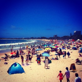 Mooloolaba Beach on Australia Day