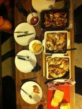 Organic roast chicken party!!